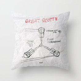 Great Scott, It's a Flux Capacitor - Back to The Future Throw Pillow