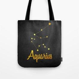 Aquarius Constellation Gold Tote Bag
