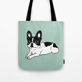 Double Hooded Pied Frenchie Tote Bag
