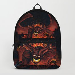Fiery Monster on Volcano Backpack