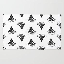 Pandanus Leaf Pattern - Black Rug