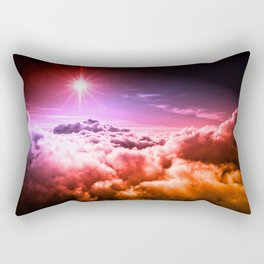 Heavenly Clouds Pink Purple Orange Ombre Rectangular Pillow