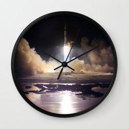 Apollo 17 - Night Launch Wall Clock