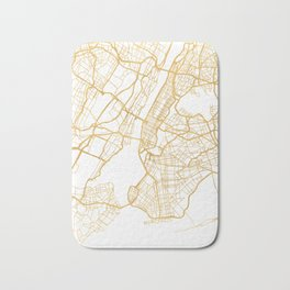 NEW YORK CITY NEW YORK CITY STREET MAP ART Bath Mat