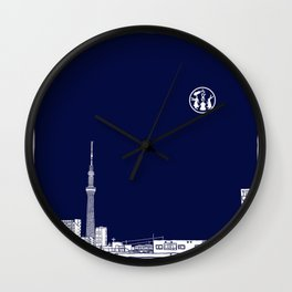 Tokyo Sky Tree by Night Wall Clock