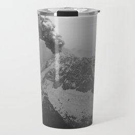 Volcano black and white Travel Mug