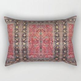 Antique Persian Red Rug Rectangular Pillow