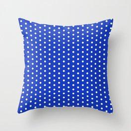 SWISS DOT ((azure)) Throw Pillow