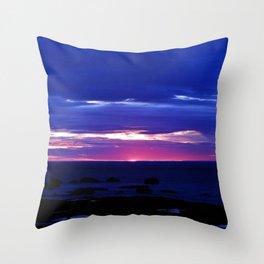 Dusk on the Sea Throw Pillow