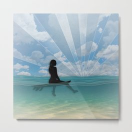 View from a Surfboard Metal Print