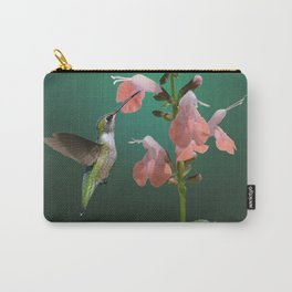 Tropical Sage And Hummingbird Carry-All Pouch