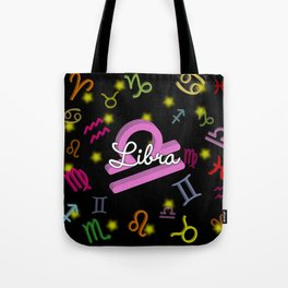 Libra Floating Zodiac Tote Bag
