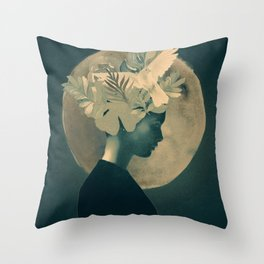 Moonlight Lady Throw Pillow