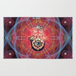 Hamsa - CHAI - Sacred Geometry Rug