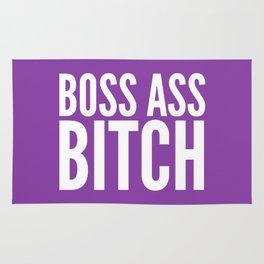 BOSS ASS BITCH (Purple) Rug