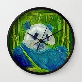 abstract panda Wall Clock