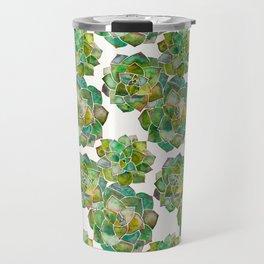 Rosette Succulents – Green Palette Travel Mug