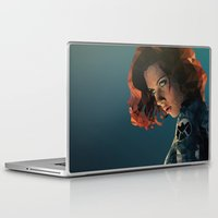 black widow Laptop & iPad Skins featuring Black Widow by Chelsea Lindsay
