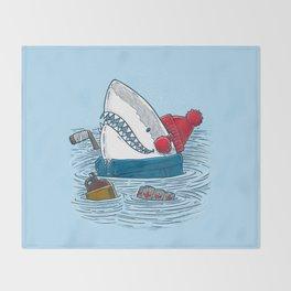 Great White North Shark Throw Blanket