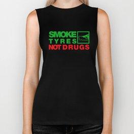 SMOKE TYRES NOT DRUGS v1 HQvector Biker Tank