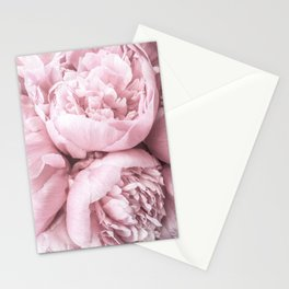 Lush Peony Flower Stationery Cards