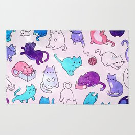 Space Cats Pattern Rug