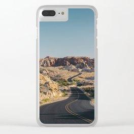 Windy Desert Road Clear iPhone Case