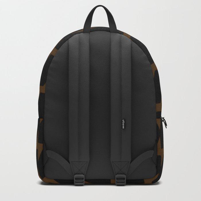 Black & Tan Dog Tooth Design Backpack