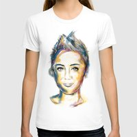 miley T-shirts featuring Miley Cyrus by caffeboy