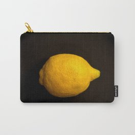 Yellow Lemon On A Black Background #decor #society6 Carry-All Pouch