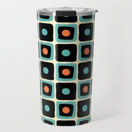 Mid Century Square Dot Pattern 4 Travel Mug