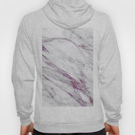 Gray and Ultra Violet Marble Agate Hoody