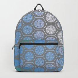 Hexagonal Dreams - Periwinkle/Turquoise gradient Backpack