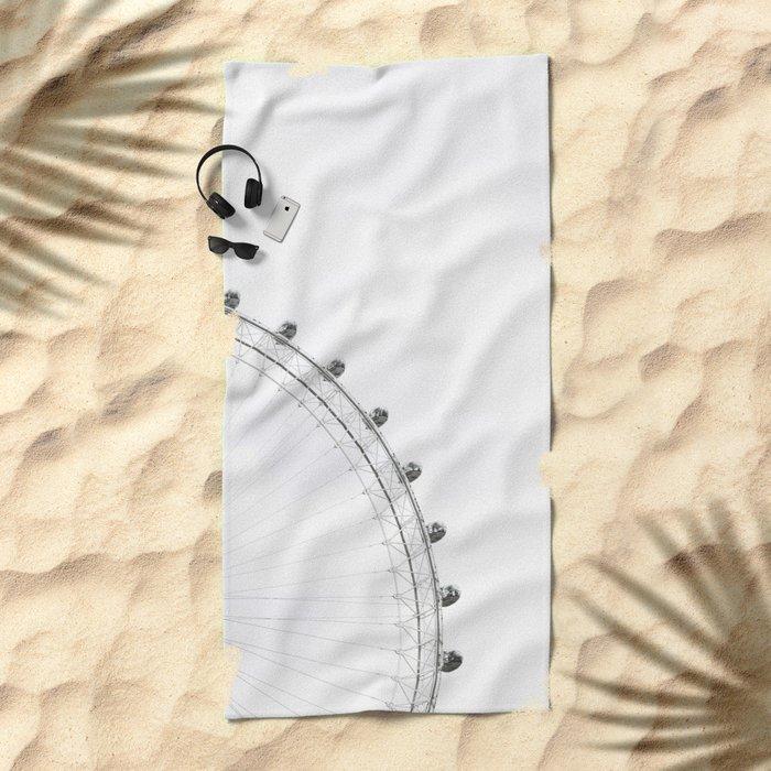 London Eye Monochrome Beach Towel