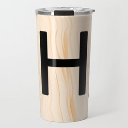Scrabble Letter H - Large Scrabble Tiles Travel Mug