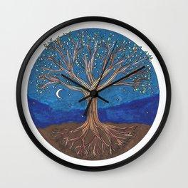 Chakra Tree Wall Clock