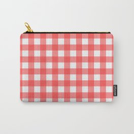 Plaid (Red & White Pattern) Carry-All Pouch