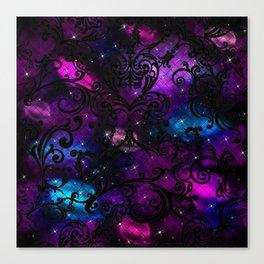 Black Lace Galaxy Canvas Print