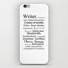 Writer iPhone Skin