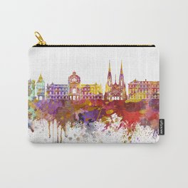 Strasbourg skyline in watercolor background Carry-All Pouch