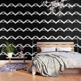 Hands making a heart shape- portraying love Wallpaper