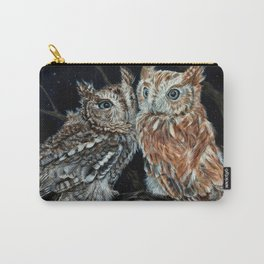 young love on a starry night - screech owls Carry-All Pouch