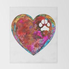 Dog Art - Puppy Love 2 - Sharon Cummings Throw Blanket