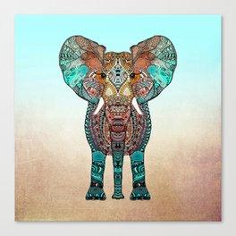 BOHO SUMMER ELEPHANT Canvas Print