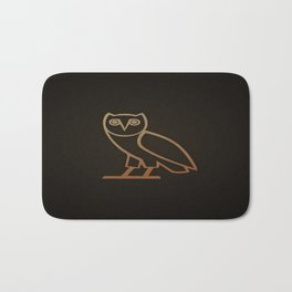 DRAKE Owl logo Bath Mat