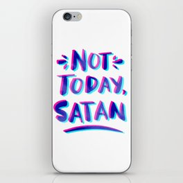 Not Today, Satan – Cyan & Magenta Palette iPhone Skin