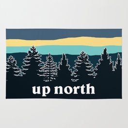 up north, teal & yellow Rug