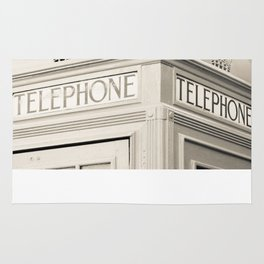 London telephone booth Rug