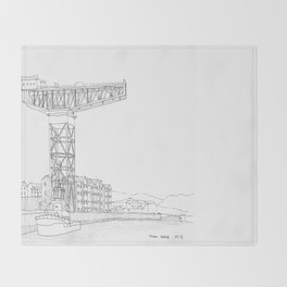 Titan Crane Throw Blanket