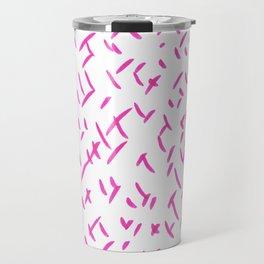 Crossed pink Travel Mug